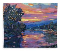 Dusk River Fleece Blanket