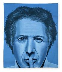 Dustin Hoffman Painting Fleece Blanket