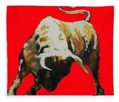 T  .  O  .  R  .  O  .  In Red Fleece Blanket
