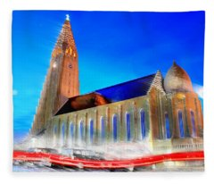 Hallgrimskirkja Fleece Blanket