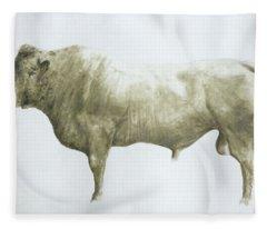 Islay Bull Fleece Blanket