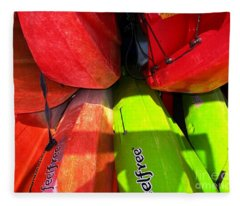 Kayaks Fleece Blanket