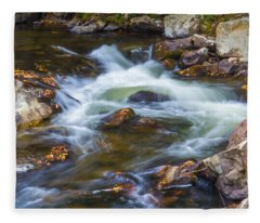 Linville Falls  Fleece Blanket