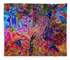 Love Chameleon Fleece Blanket