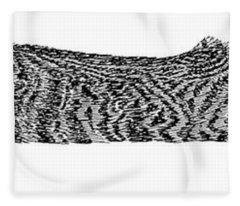 Skippy The Manx Cat Sleeping Fleece Blanket
