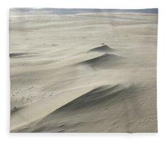 Mooving Dunes In The Slowinski Fleece Blanket
