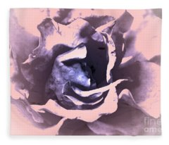 Mysterious Rose Fleece Blanket