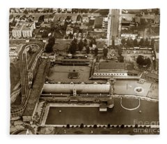 Neptune Beach Olympic Size Swimming Pool And A Roller Coaster Alameda Circa 1920 Fleece Blanket