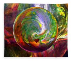 Orbing A Sea Of Love Fleece Blanket