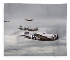P47 Thunderbolt  Top Cover Fleece Blanket