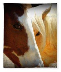 Portrait Of Tai And Woody Fleece Blanket