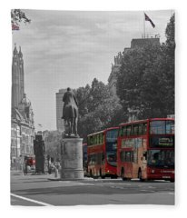 Routemaster London Buses Fleece Blanket