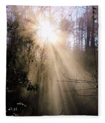 Windows Of Faith Fleece Blanket