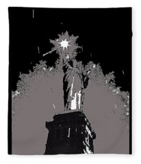 Statue Of Liberty Power Outage 1942-2014 Fleece Blanket