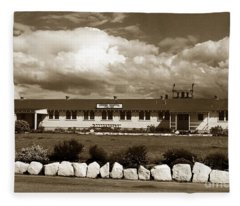 The Fort Ord Station Hospital Administration Building T-3010 Building Fort Ord Army Base Circa 1950 Fleece Blanket