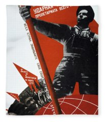 The Ussr Is The Elite Brigade Of The World Proletariat 1931 Fleece Blanket