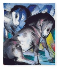 Two Horses Fleece Blanket