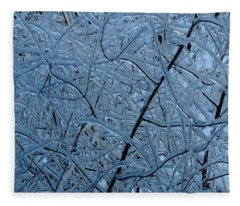 Vegetation After Ice Storm  Fleece Blanket