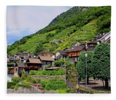Vogorno Switzerland Fleece Blanket