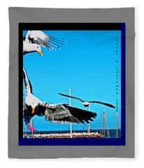 West Coast Sea Birds Fleece Blanket