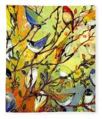 16 Birds Fleece Blanket