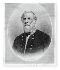 1800s 1860s Portrait General Robert E Fleece Blanket