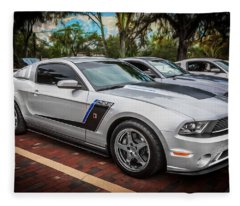 2012 Ford Roush Stage 3 Mustang Rs3 Painted  Fleece Blanket