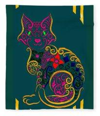 Cat Series 02 Fleece Blanket
