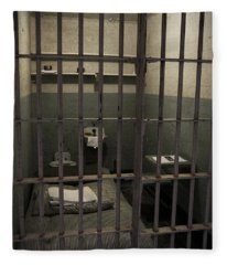 A Cell In Alcatraz Prison Fleece Blanket