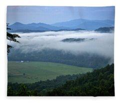 A Farm In The Smokies Fleece Blanket