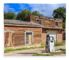 Abandoned Mining Buildings Fleece Blanket
