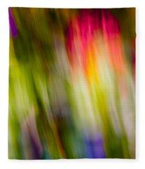 Abstraction Of Butterflies Fleece Blanket