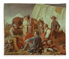 Advice On The Prairie  Fleece Blanket