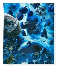 Alien Pirates  Fleece Blanket