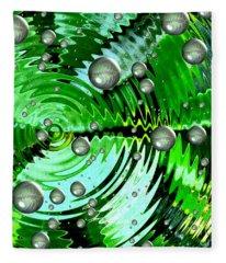 Amazing. Abstract Art. Green Grey  Blue Yellow  Fleece Blanket