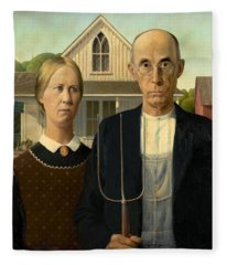 American Gothic Fleece Blanket