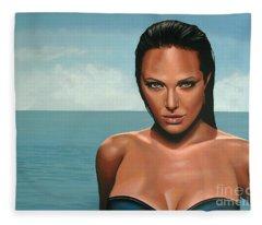 Angelina Jolie Fleece Blanket