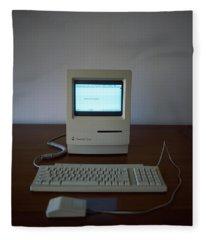 Apple Macintosh Classic Desktop Pc Fleece Blanket