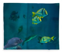 Aquarium Fish Fleece Blanket