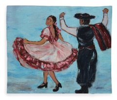 Argentinian Folk Dance Fleece Blanket