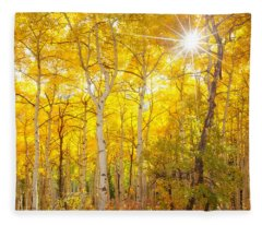 Aspen Morning Fleece Blanket