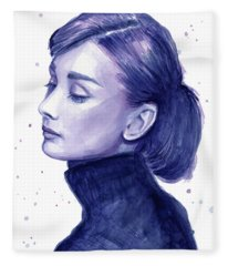 Audrey Hepburn Portrait Fleece Blanket