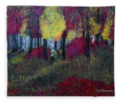 Autumn Peak Fleece Blanket