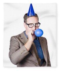 Balloon Man. End Of Financial Year Celebration Fleece Blanket