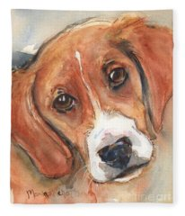 Beagle Dog  Fleece Blanket