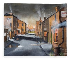 Black Country Village From The Boat Yard Fleece Blanket