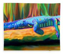 Blue Alligator Fleece Blanket