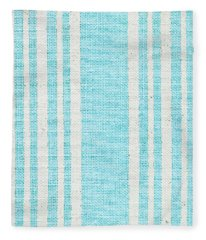 Blue Fabric Fleece Blanket