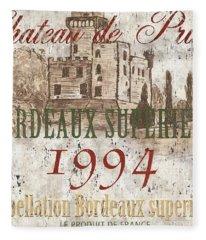 Bordeaux Blanc Label 2 Fleece Blanket