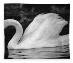 Boston Public Garden Swan Fleece Blanket
